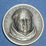 SALE California Silver Statehood Medal - Father Junipero Serra