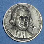 SALE Declaration of Independence Medal - John Witherspoon of New Jersey