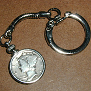 1936 Mercury Dime Coin Keychain