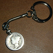 1926 Mercury Dime Coin Keychain