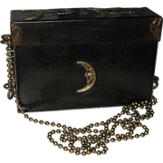 SALE Vintage Designer Signed Zavala Mexico Box Style Purse Handbag Moon Design