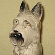 SALE Large Vintage Westie West Highland White / Scotty Terrier Dog Bank