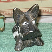 SALE Vintage Scottish Terrier Scotty Dog Still Bank Made in Japan