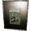Vintage Framed Arabic Painting Warriors on Horse Back
