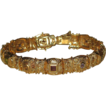Fabulous Etruscan & Multi Gemstone Bracelet Gold over Sterling