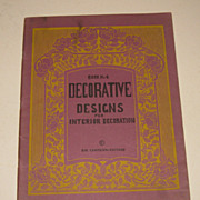 SALE Vintage 1920's DECORATIVE DESIGNS by Campana Arts & Crafts  29 pg Book