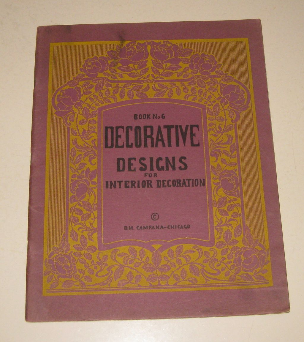 Vintage 1920's DECORATIVE DESIGNS by Campana Arts & Crafts  29 pg Book