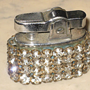 SALE Vintage Miniature Firefly Lighter Rhinestones Made in Japan