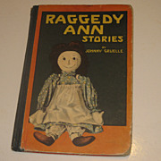 SALE Vintage Raggedy  Ann Stories by Johnny Gruelle 1918 Volland Hardcover Book