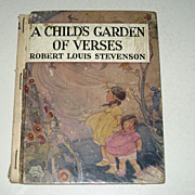 SALE PENDING Robert Louis Stevenson A Child's Garden Of Verses Book Of Poem's 1938  RARE