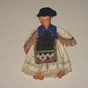 SALE Adorable Vintage Miniature Composition Doll Germany Move-able Arms & Legs