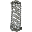 Vintage Stunning Wide Rhinestone Bracelet