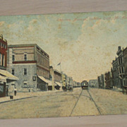 REDUCED Downtown Main Street Mc Alester Oklahoma Coca Cola Sign Antique Postcard 1911