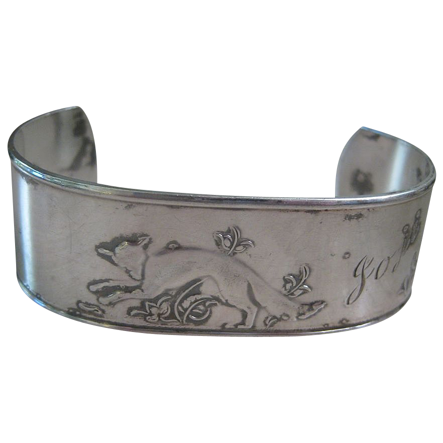Rare David Anderson Norway Wide 830 Silver Cuff Bracelet Fox, Bear & Kiwi Bird