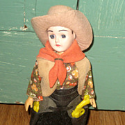 SALE Vintage Carlson Doll  Cowboy Cowgirl Sleep Eyes Original Tag