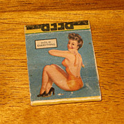 SALE Vintage Pin Up Girl Match Book Advertising Phillips 66 Gas Service Station Hays Kansas