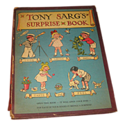 SALE Tony Sarg's Surprise Book 1941 Mechanical Book