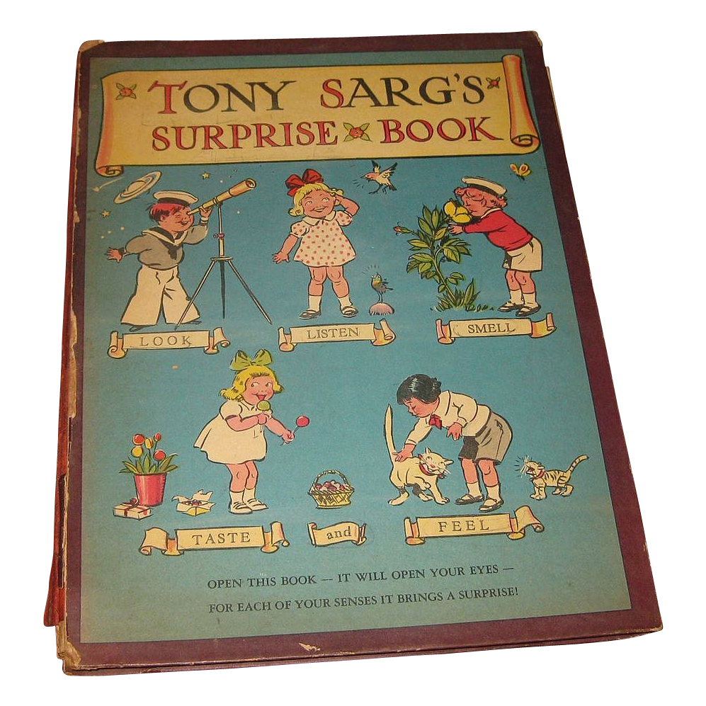 Tony Sarg's Surprise Book 1941 Mechanical Book