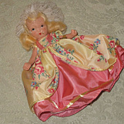REDUCED Vintage Nancy Ann Storybook Bisque Doll  Colonial Dame #56