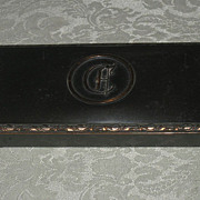 SALE Vintage Hyde Park Bronze & copper cigar cigarette trinket box