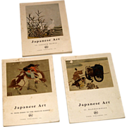 REDUCED 3 vintage books Circa 1958 Japanese Art  Illustrated by Tudor Publishing