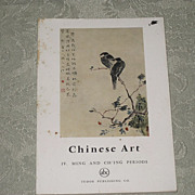 SALE Vintage book Circa 1961 Chinese Art  Ming & Ch'ing Periods Tudor Publishing France