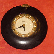 SALE Vintage Art Deco Celluloid Case Westclox  Travel Clock wind up