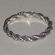 James Avery Sterling Silver Rope Braided Band Ring Retired Sz 7.5