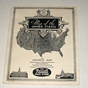 SALE Vintage Rexall Drug Store Maps of the United States