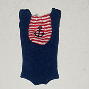 SALE Vintage Skipper Original Blue Swimsuit with Red Anchor  tagged 1963