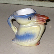 SALE Vintage Miniature Bird Pitcher Jug Japan