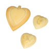3 Vintage Ivory Celluloid Heart charms, Pendant Beautiful!