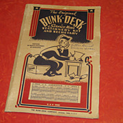 Vintage WWII Bunk Desk Service Men's Military Stationary Holder 1943-1944