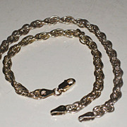 2 Vintage Milor Italy Gold over Sterling Silver 7.5 inch Chunky Rope Style Bracelets