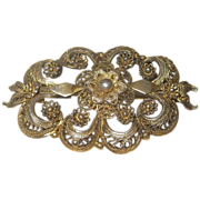 Beautiful Ornate Vintage Filigree Brooch