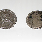 SALE Antique Austria Salzburg Hieronymus Taler Silver Coin Cuff Links