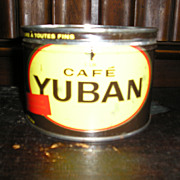 "Advertising Coffee Tin ""Cafe Yuban"""