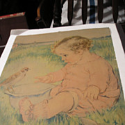Maud Tousey Fangel Baby Print