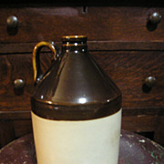 Stoneware Jug-Brown and White-Pottery