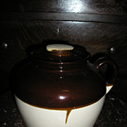 Stoneware Beanpot with Lid