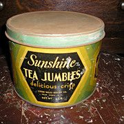 Advertising Tin-Tea Jumbles-Biscuits