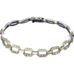 Art Deco 935 Quality Silver & Pastes Cocktail Bracelet