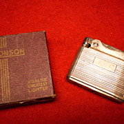 Sterling Ronson  Adonis Cigarette Lighter in Original Box