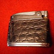 Ronson Adonis Cigarette Lighter with Leather Crock Cover