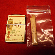 Vintage Chesterfield Cigarette Lighter and Cigarette