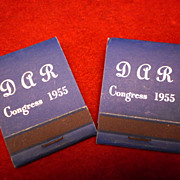 Two DAR Congress 1955 Matchbooks - Unused