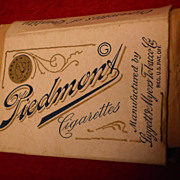 Piedmont Cigarette pack with 4 Cigarettes