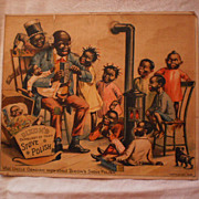 Trade Card - Dixon's Stove Polish - Black Americana
