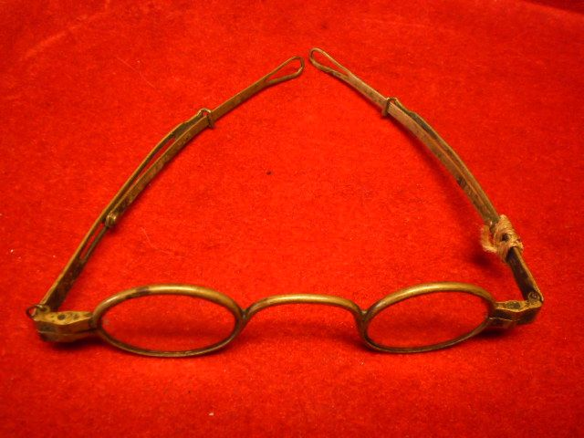 Early Civil War Brass Framed Eyeglasses