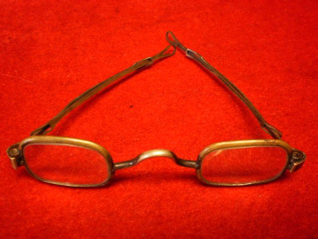 Early Civil War Period Brass-Framed Spectacles